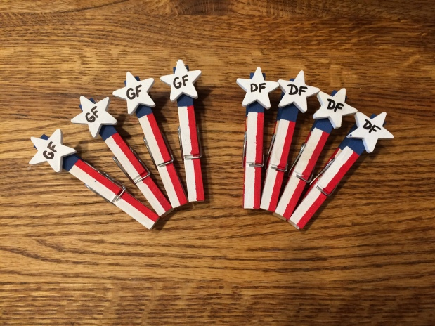 Eating Gluten-Free at Events: Clothespin Craft for 4th of July